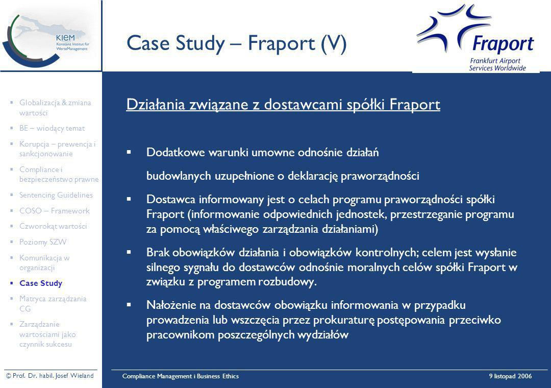 Case Study – Fraport (V)