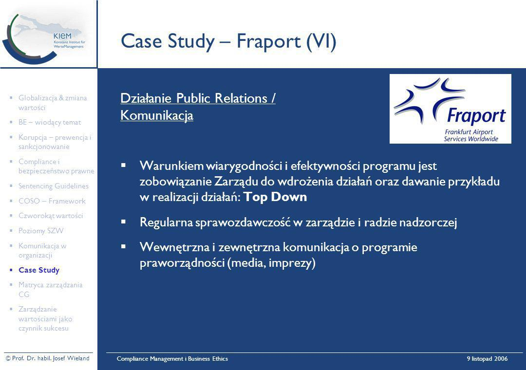 Case Study – Fraport (VI)
