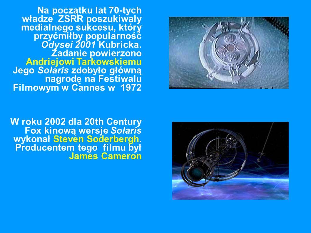 Na początku lat 70-tych władze ZSRR poszukiwały medialnego sukcesu, który przyćmiłby popularność Odysei 2001 Kubricka. Zadanie powierzono Andriejowi Tarkowskiemu Jego Solaris zdobyło główną nagrodę na Festiwalu Filmowym w Cannes w 1972