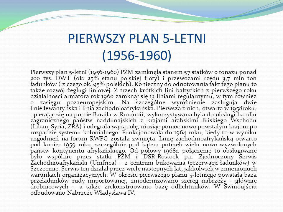 PIERWSZY PLAN 5-LETNI (1956-1960)