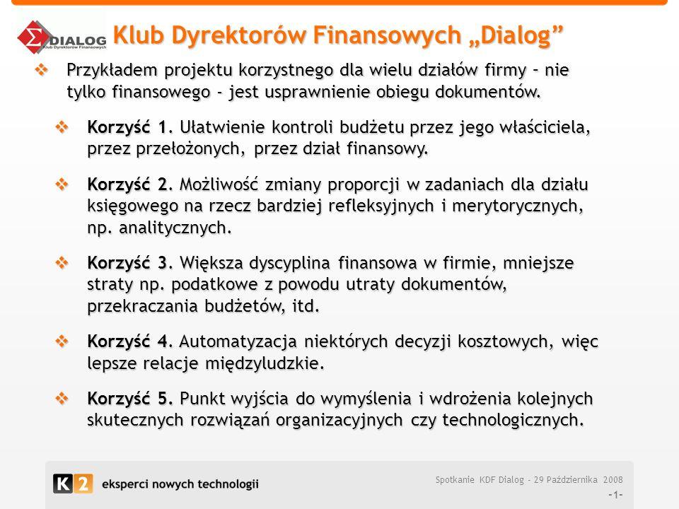 """Klub Dyrektorów Finansowych """"Dialog"""