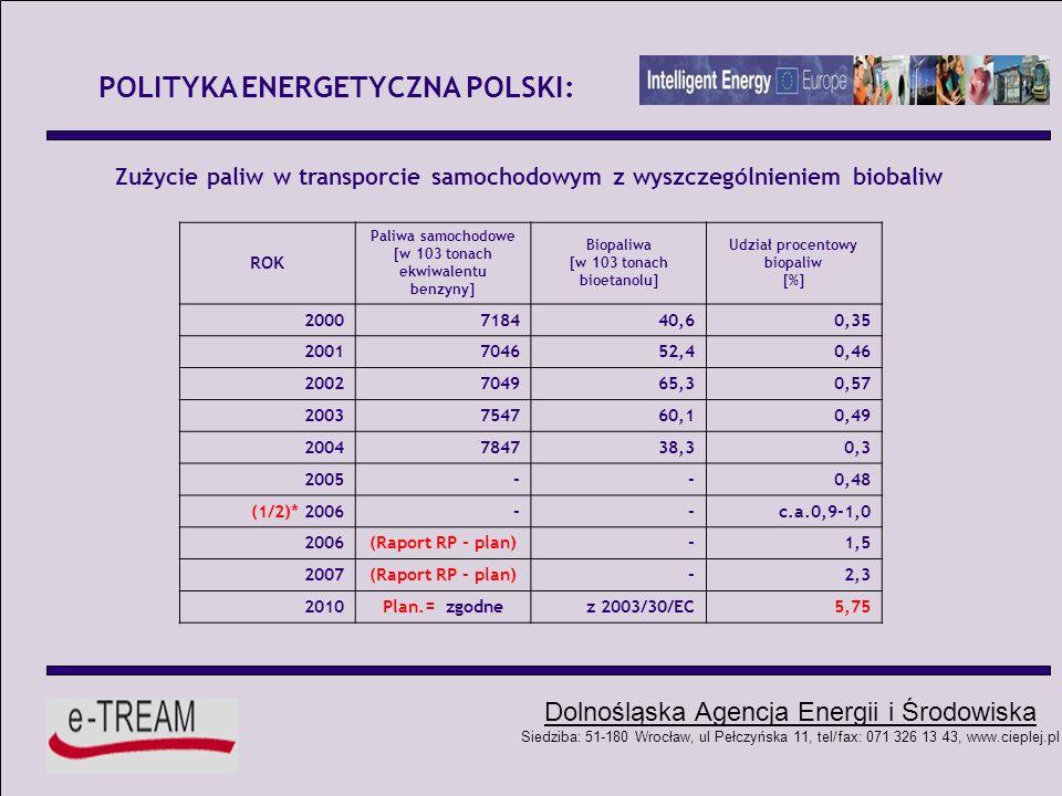 POLITYKA ENERGETYCZNA POLSKI:
