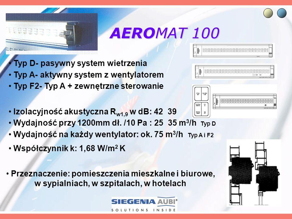 AEROMAT 100 Typ D- pasywny system wietrzenia