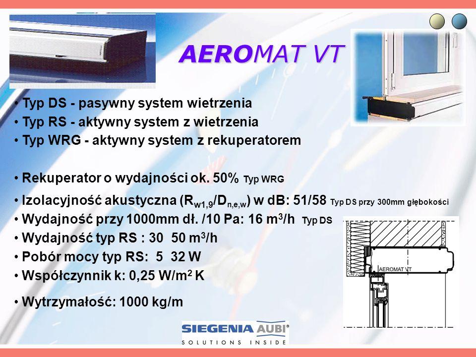 AEROMAT VT Typ DS - pasywny system wietrzenia