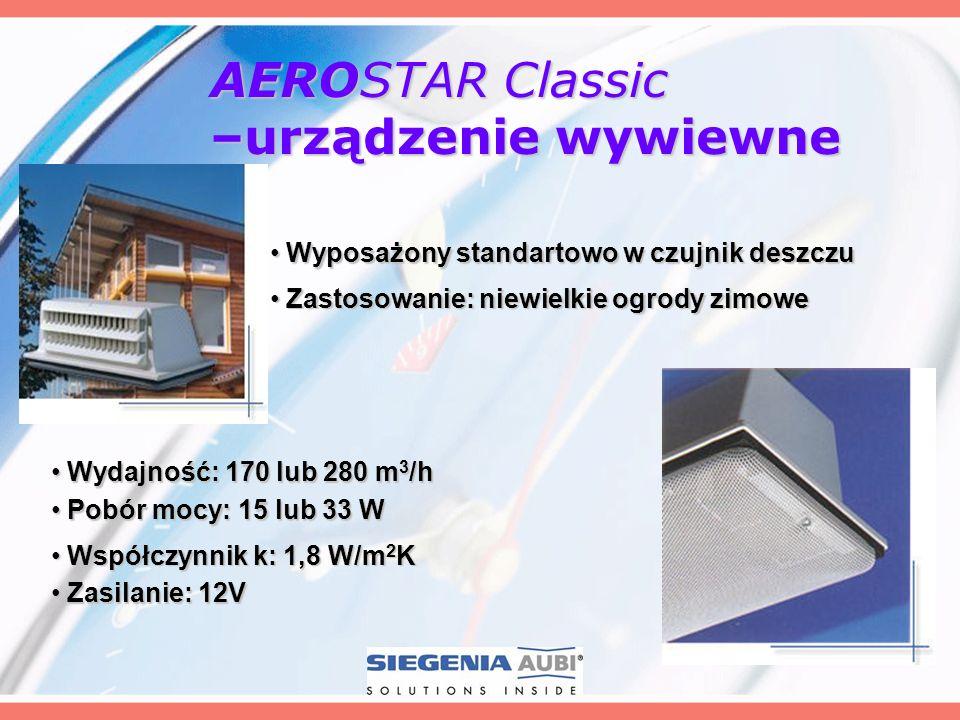 AEROSTAR Classic –urządzenie wywiewne