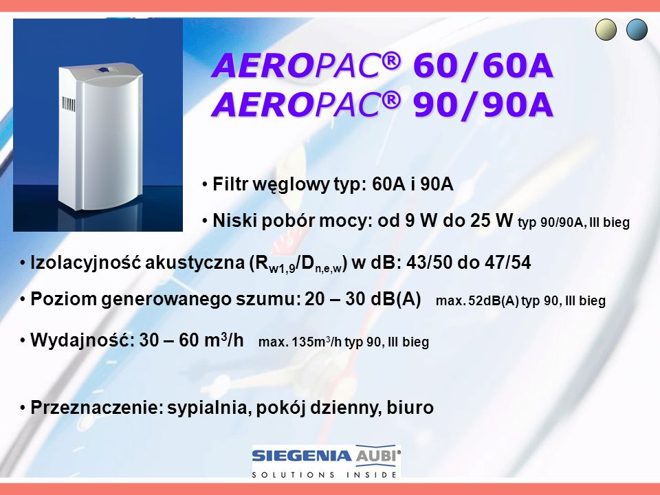 AEROPAC® 60/60A AEROPAC® 90/90A