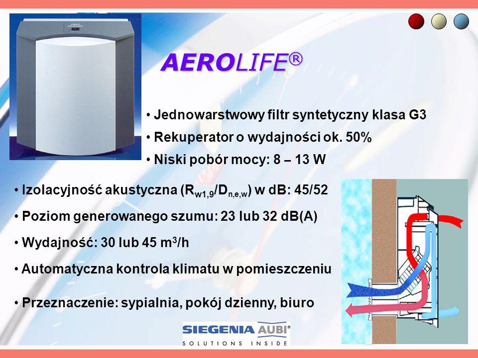 AEROLIFE® Jednowarstwowy filtr syntetyczny klasa G3