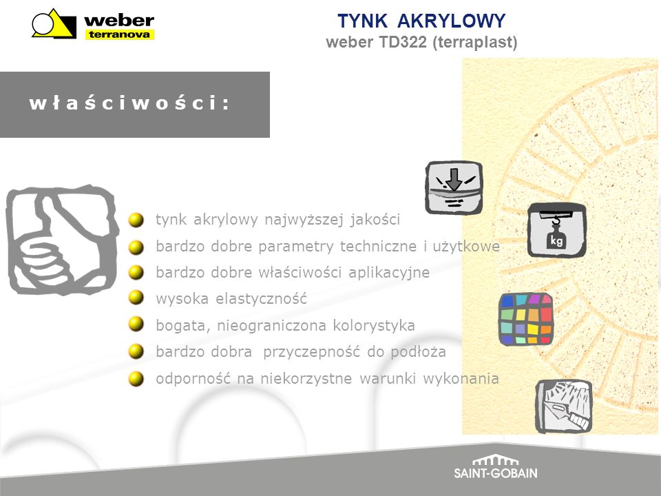TYNK AKRYLOWY weber TD322 (terraplast)