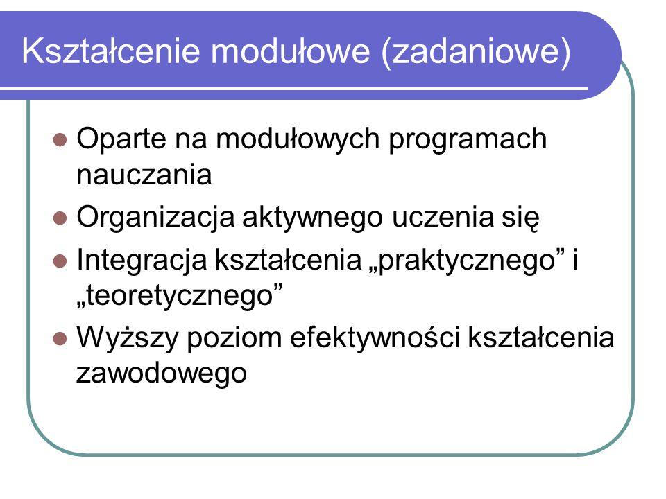 Kształcenie modułowe (zadaniowe)