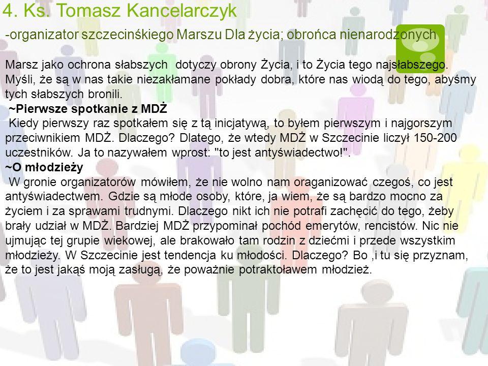 4. Ks. Tomasz Kancelarczyk