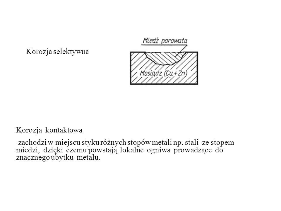 Korozja selektywna Korozja kontaktowa.