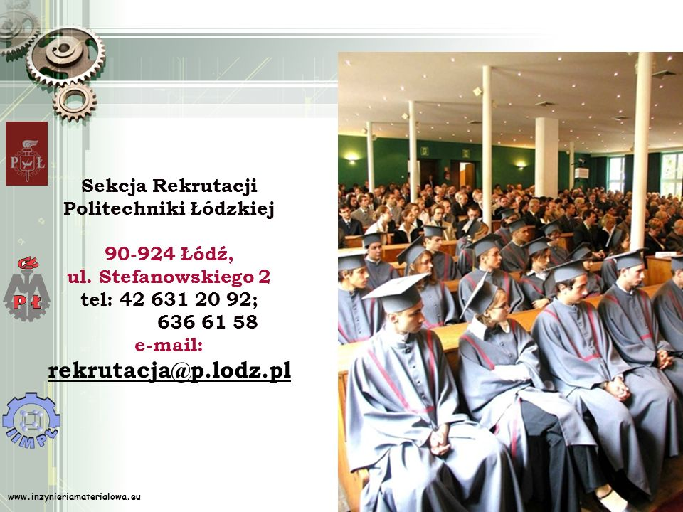 Sekcja Rekrutacji Politechniki Łódzkiej