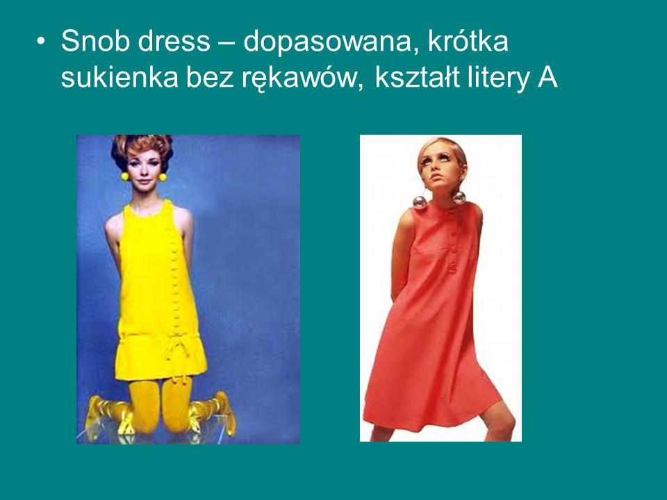 Snob dress – dopasowana, krótka sukienka bez rękawów, kształt litery A