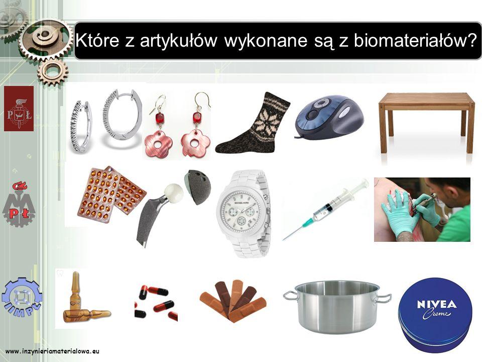 Które z artykułów wykonane są z biomateriałów