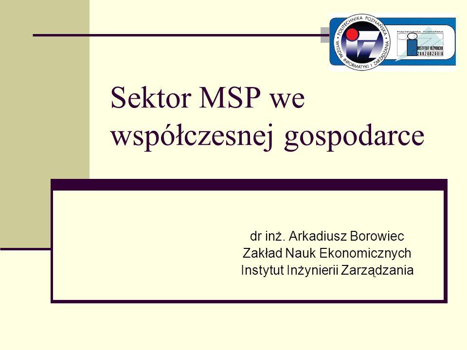 Sektor MSP we współczesnej gospodarce