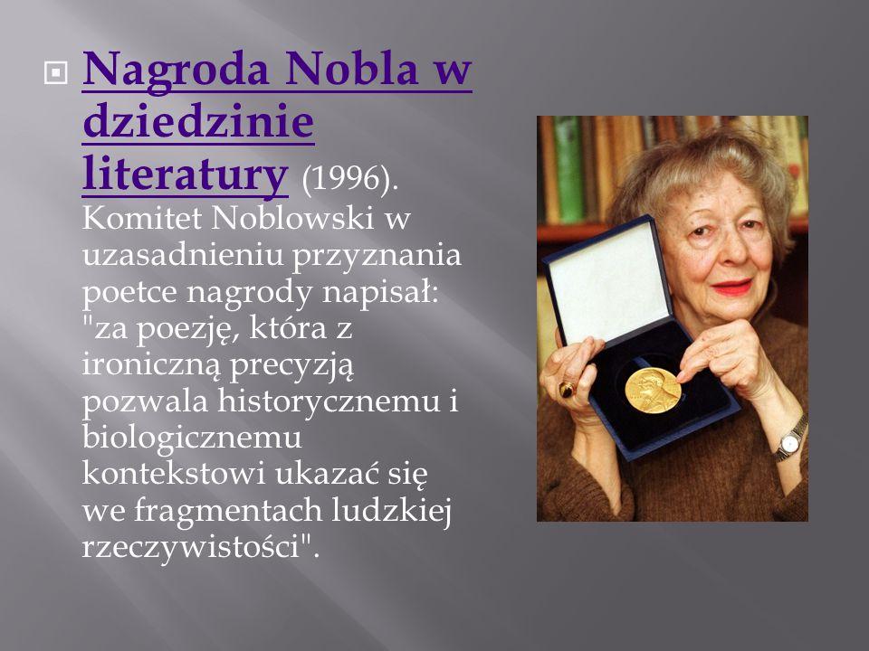 Nagroda Nobla w dziedzinie literatury (1996)