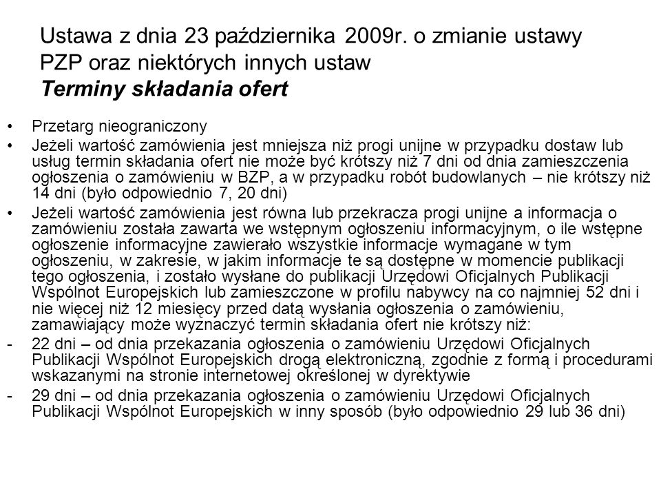 Ustawa z dnia 23 października 2009r
