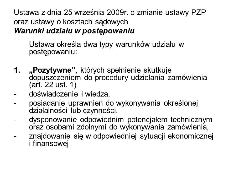 Ustawa z dnia 25 września 2009r
