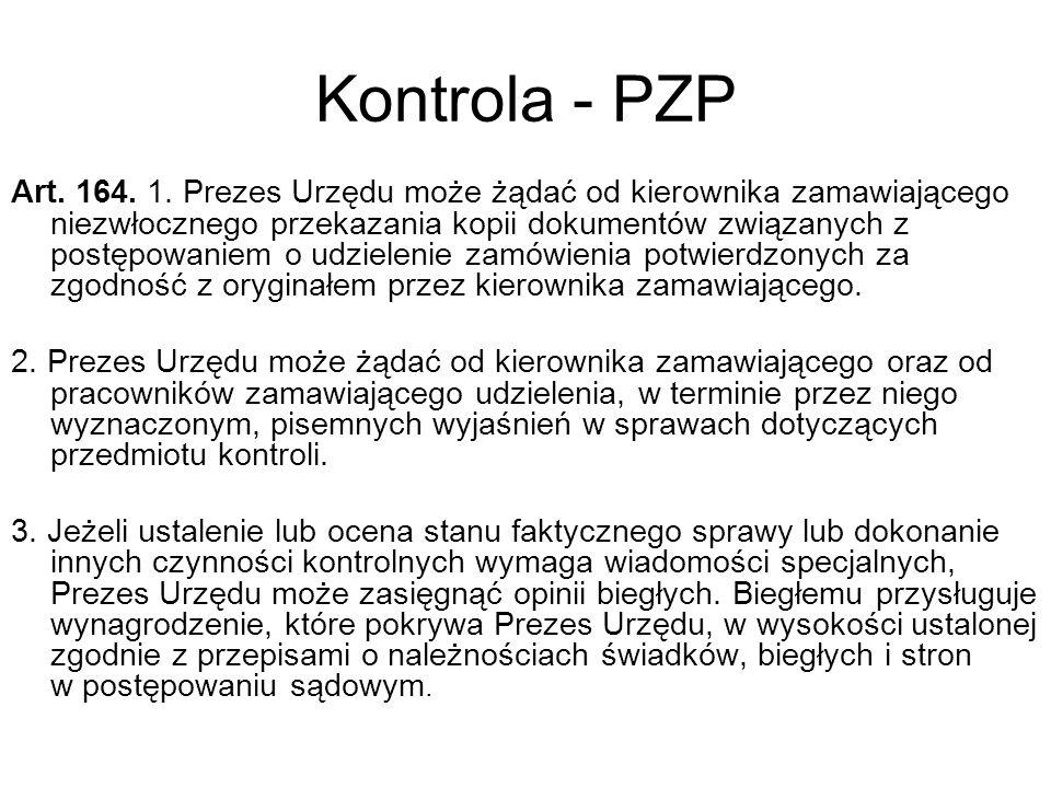 Kontrola - PZP