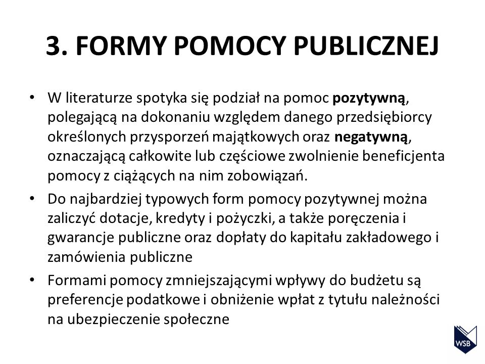 3. FORMY POMOCY PUBLICZNEJ