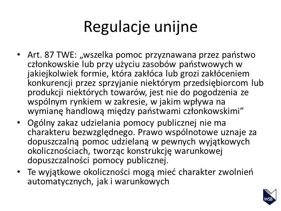 Regulacje unijne