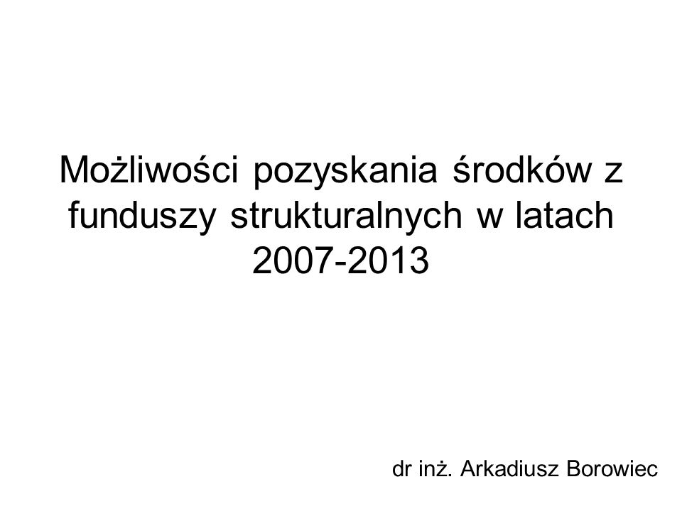dr inż. Arkadiusz Borowiec