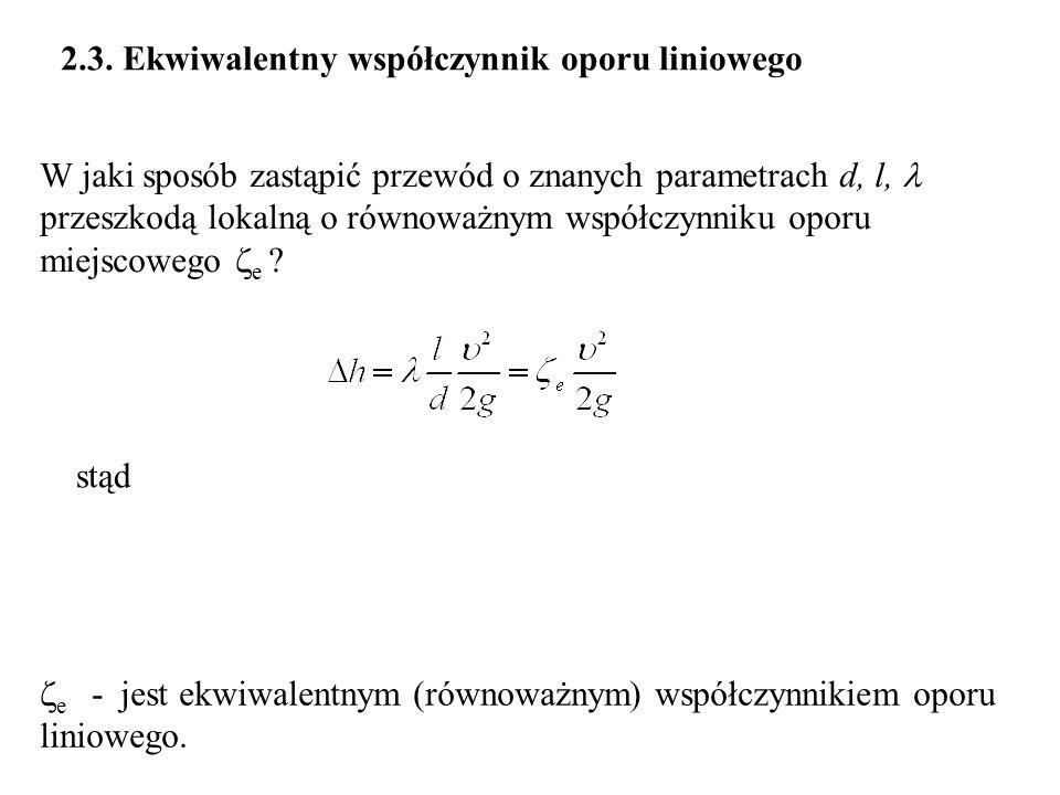 2.3. Ekwiwalentny współczynnik oporu liniowego