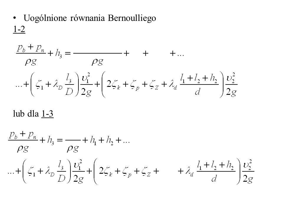 Uogólnione równania Bernoulliego