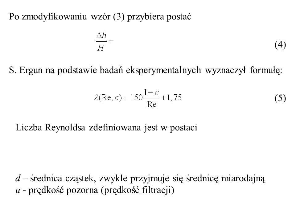 Po zmodyfikowaniu wzór (3) przybiera postać