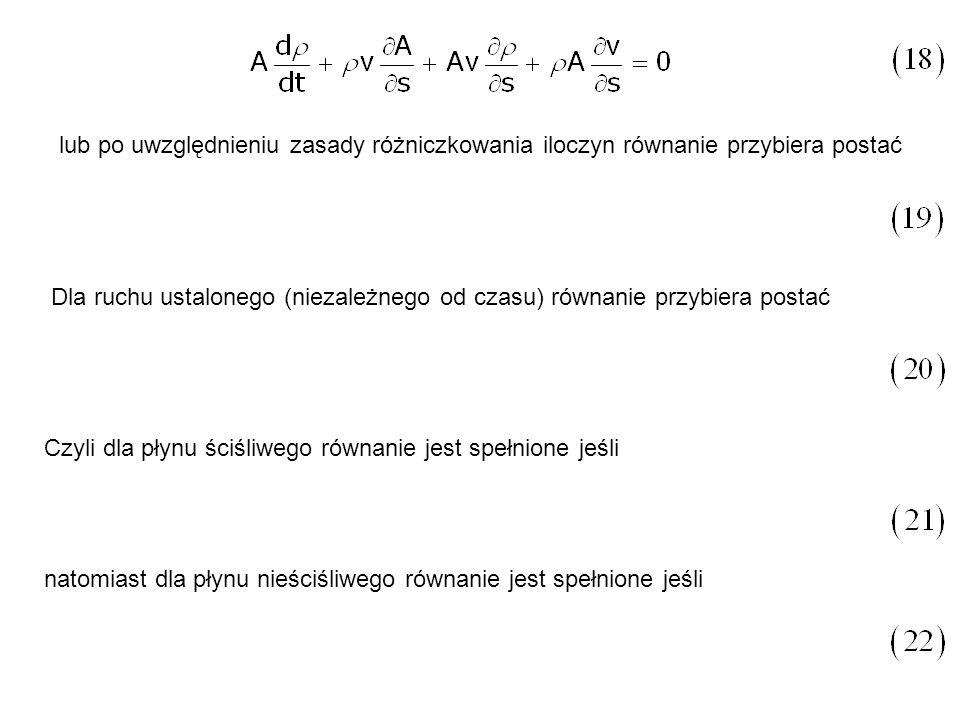 lub po uwzględnieniu zasady różniczkowania iloczyn równanie przybiera postać