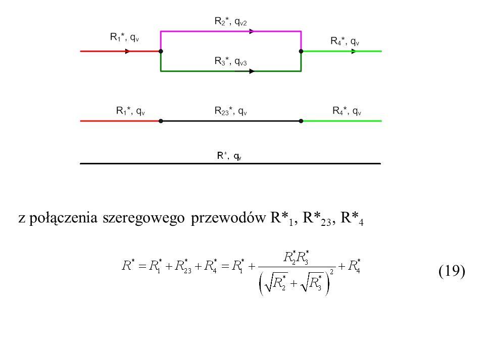 z połączenia szeregowego przewodów R*1, R*23, R*4