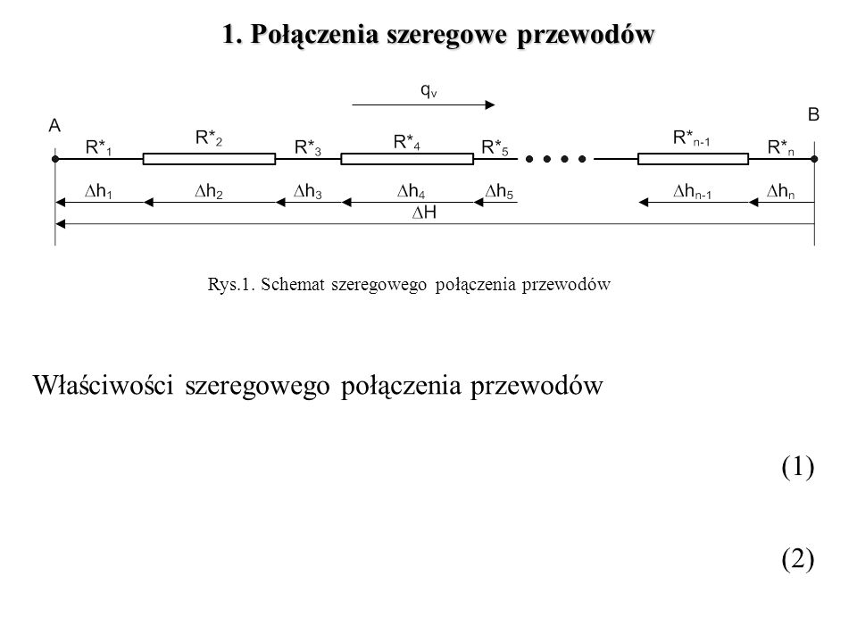 1. Połączenia szeregowe przewodów