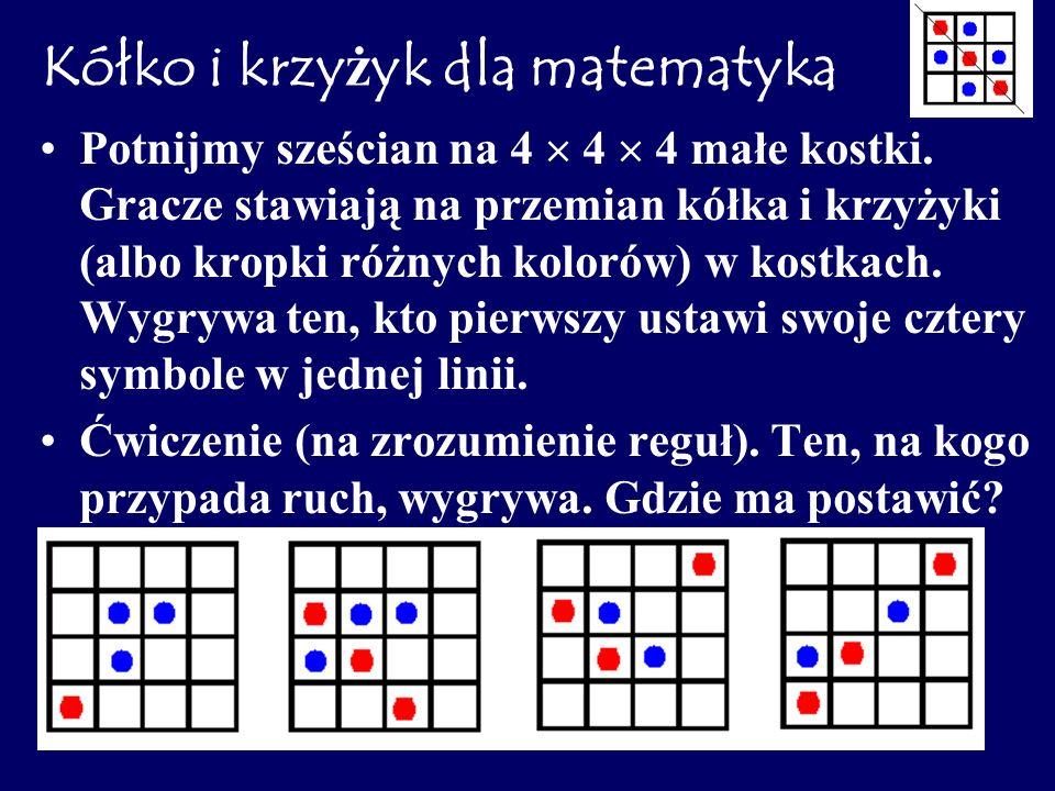 Kółko i krzyżyk dla matematyka
