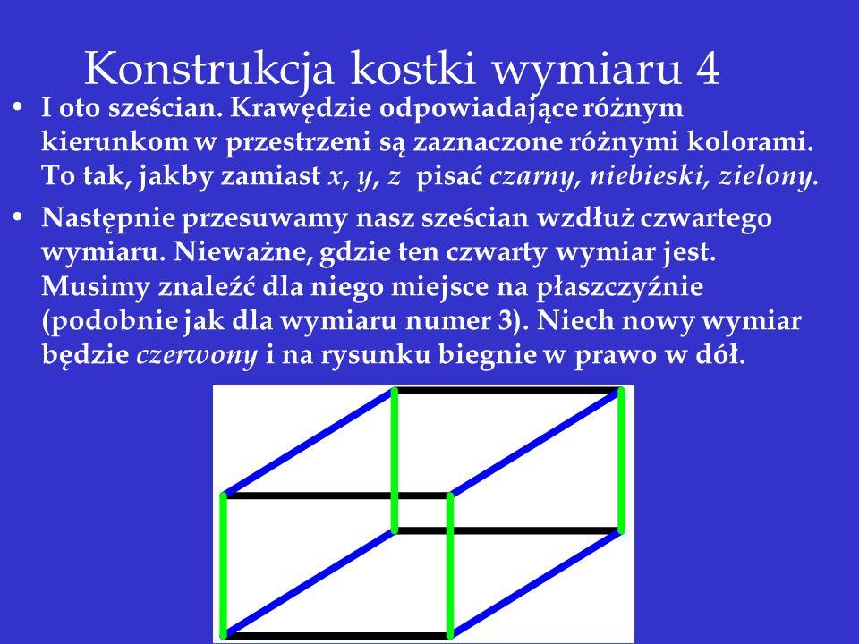 Konstrukcja kostki wymiaru 4