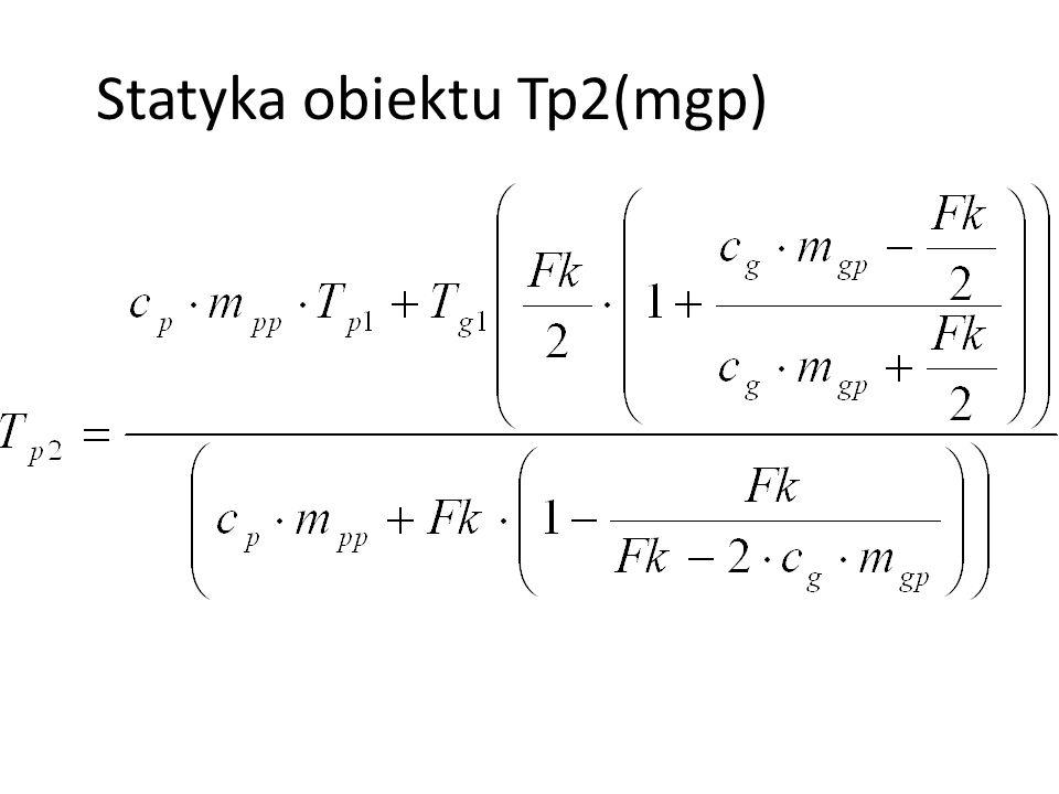 Statyka obiektu Tp2(mgp)