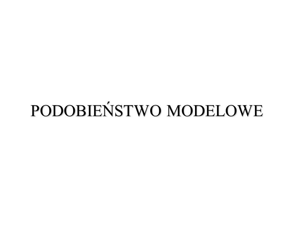 PODOBIEŃSTWO MODELOWE
