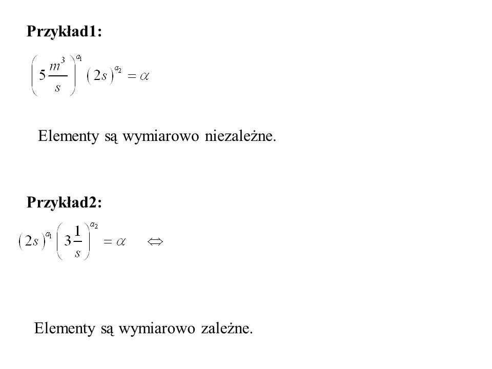 Przykład1: Elementy są wymiarowo niezależne. Przykład2: Elementy są wymiarowo zależne.