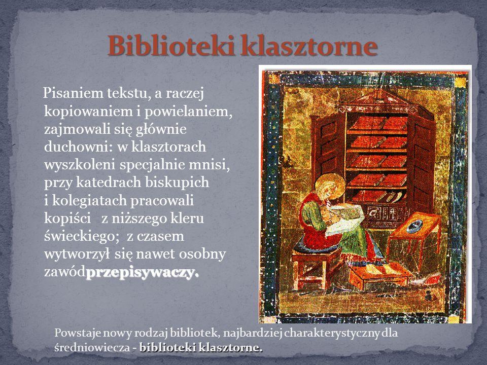 Biblioteki klasztorne
