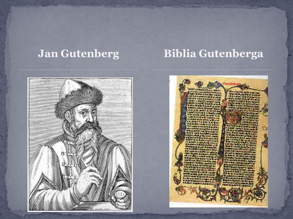Jan Gutenberg Biblia Gutenberga