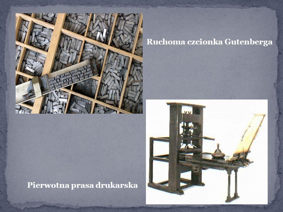 Ruchoma czcionka Gutenberga