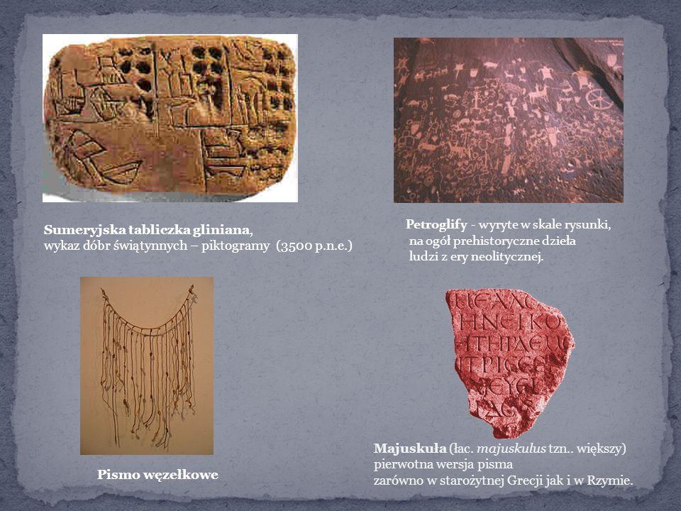 Petroglify - wyryte w skale rysunki,