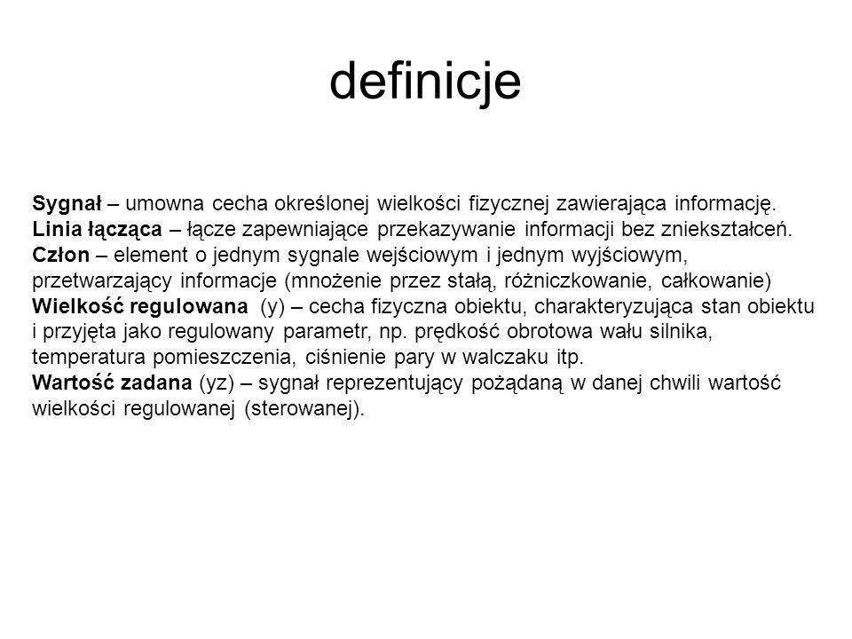 definicje Sygnał – umowna cecha określonej wielkości fizycznej zawierająca informację.