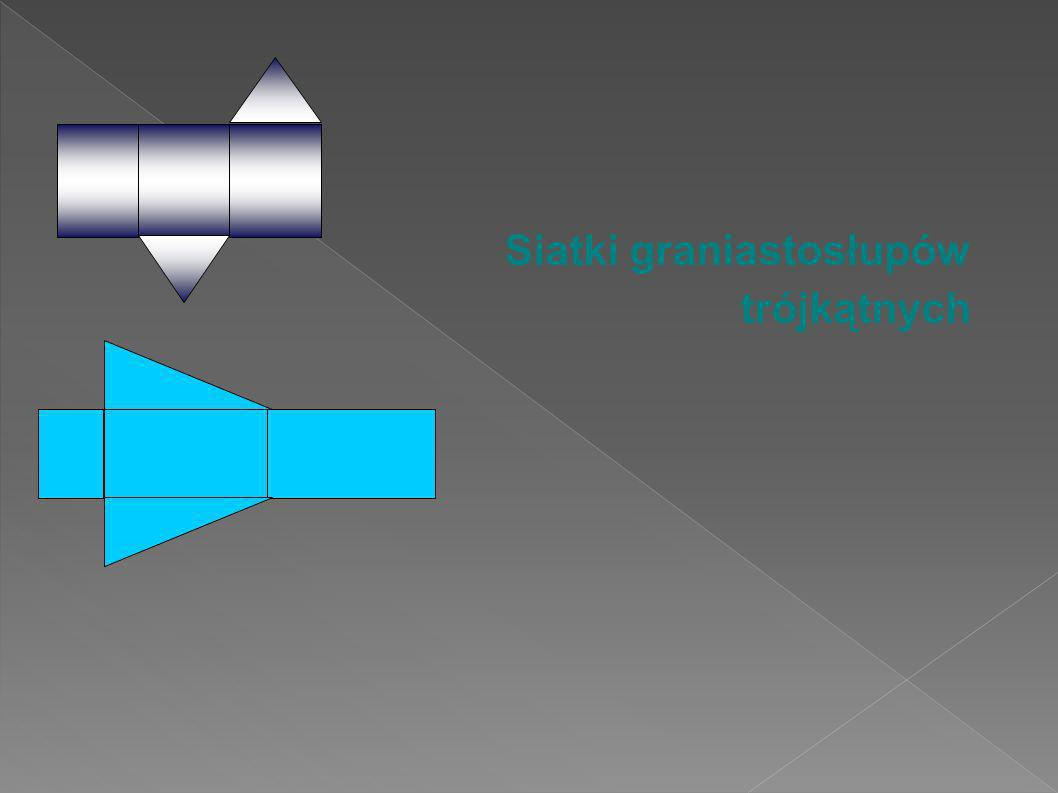 Siatki graniastosłupów trójkątnych