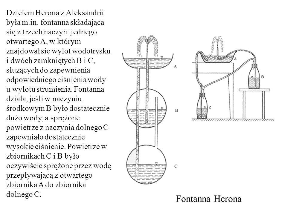 Dziełem Herona z Aleksandrii była m. in