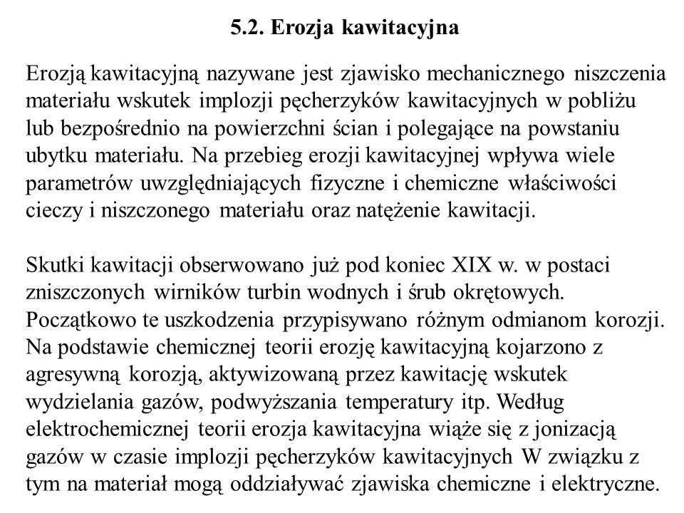 5.2. Erozja kawitacyjna