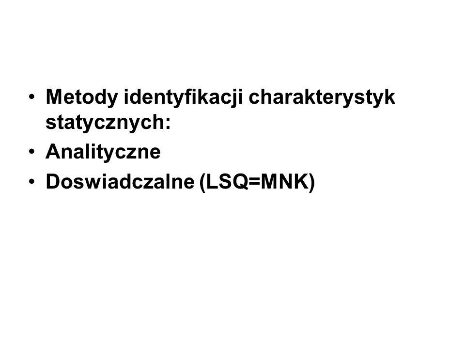 Metody identyfikacji charakterystyk statycznych: