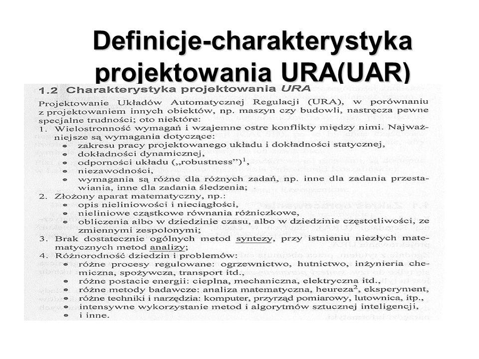 Definicje-charakterystyka projektowania URA(UAR)