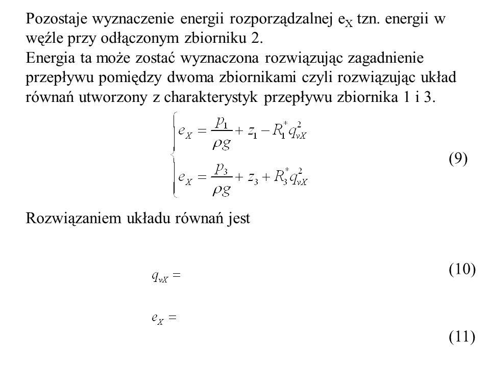 Pozostaje wyznaczenie energii rozporządzalnej eX tzn