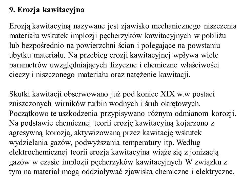 9. Erozja kawitacyjna