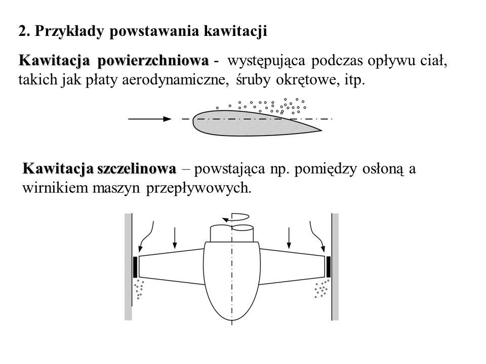 2. Przykłady powstawania kawitacji